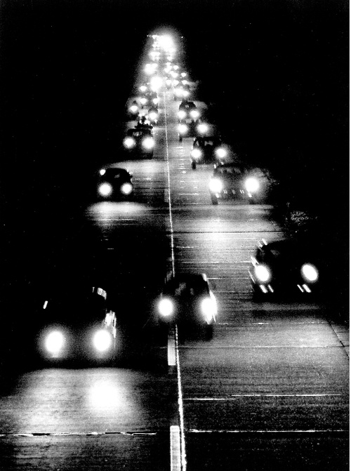 Peter Keetman Highway By Night, 1956 black and white road photograph